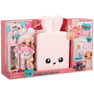 MGA 569732E7C - Na! Na! Na! Surprise - 3-in-1 Backpack Bedroom Playset pink