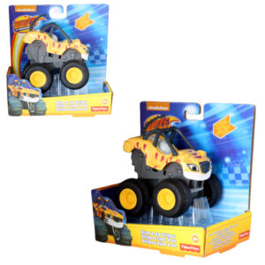 Fisher-Price CGK25 Blaze und die Monster-Maschinen Slam Go Stripes Rennauto